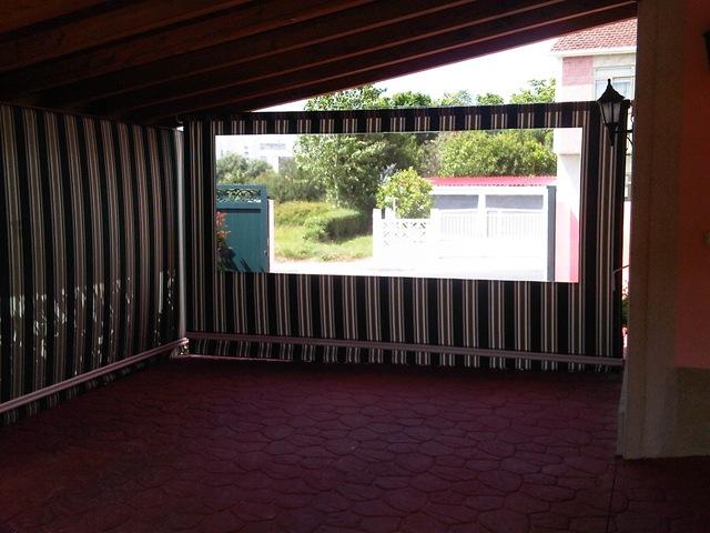 Toldo cortina a modo de garaje