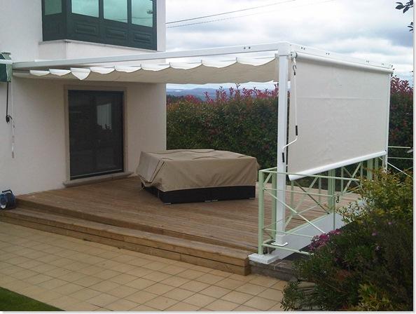 Industria cortina for Estructuras aluminio para toldos