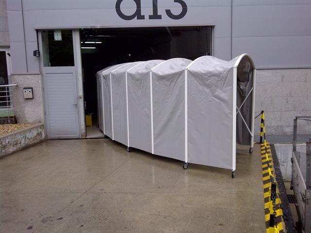 Túnel plegable de lona tanto para empresas, como para campos de fútbol o cualquier idea que se le ocurra