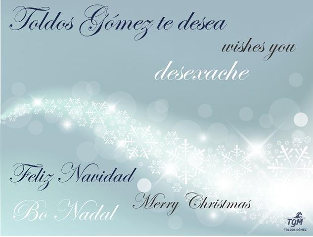 TGM_Toldos Gómez les desea una feliz Navidad!!!