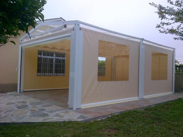 Lona estructura blog for Toldo horizontal terraza