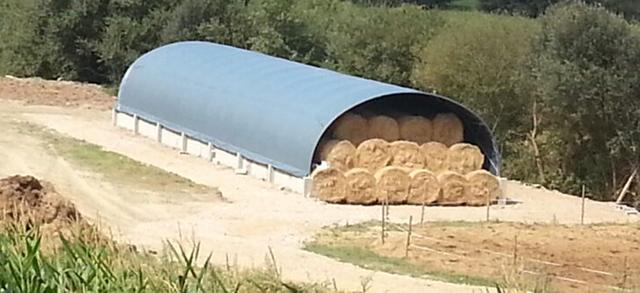 Estructura para invernadero reconvertida en un amplio espacio de almacenamiento