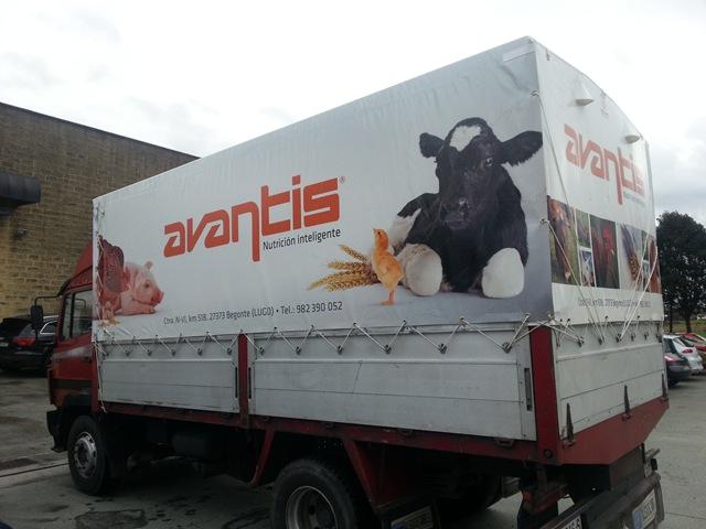 Lona confeccionada a medida para este camión de pequeñas dimensiones