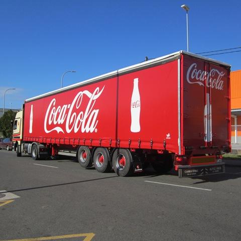 Lona camión Coca Cola confeccionada por TGM