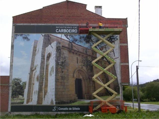 Monasterio de Carboeiro, impresión digital sobre rejillas de PVC