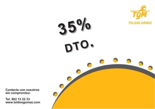 Promoción 35% de descuento en acrílico