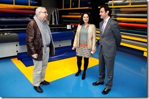 Belén Docampo, Delegada de la Xunta en A Coruña con Antonio Gómez y Javier Aguilera