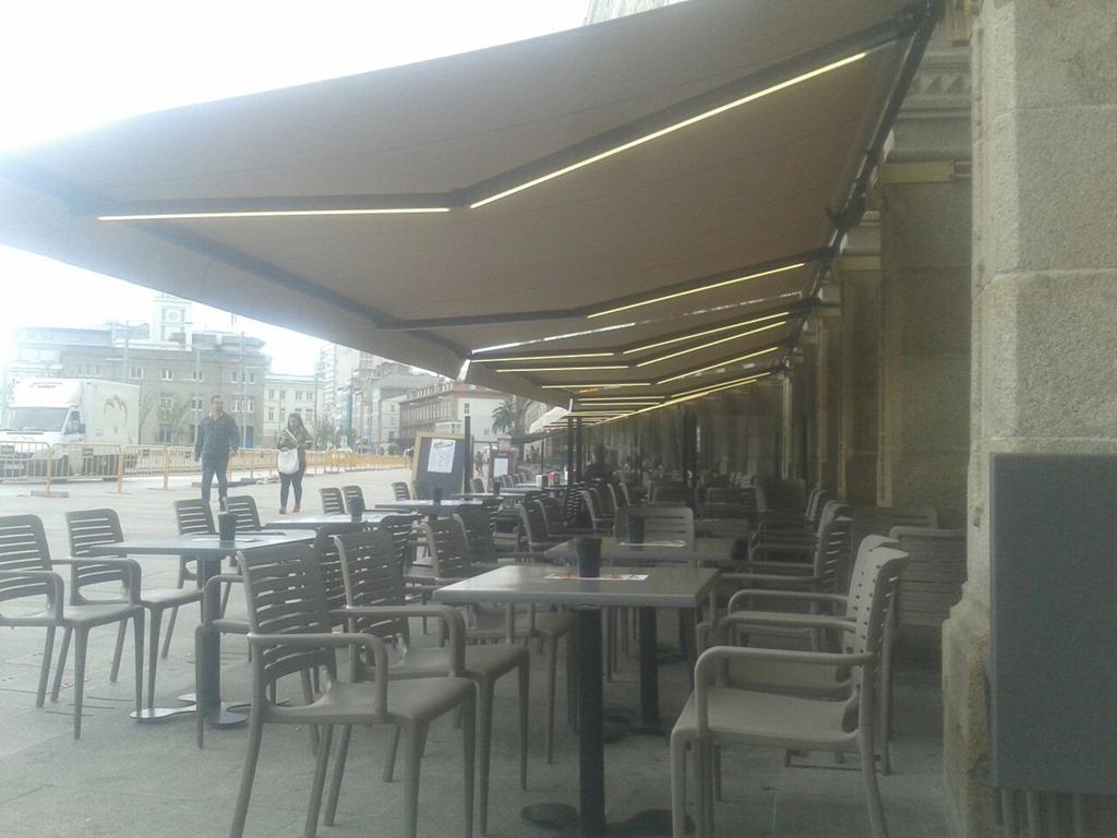 Nuevas terrazas en a marina de a coru a blog for Toldos gomez arzua