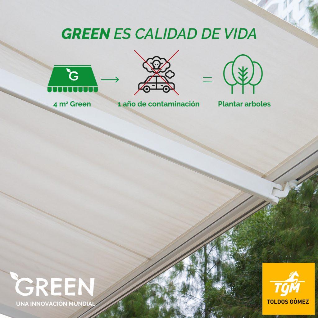 Green es un tejido que purifica el aire